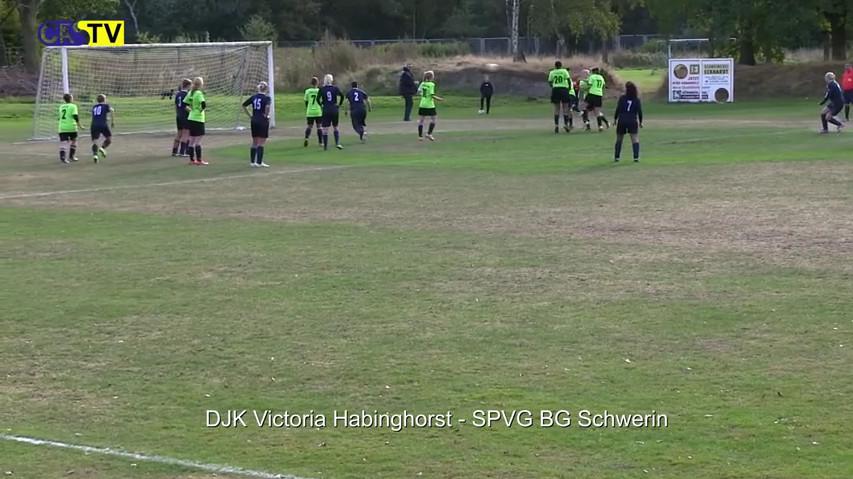 Victoria Habinghorst – BG Schwerin, Tor Annika Gil